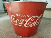 Metal coke ice bucket