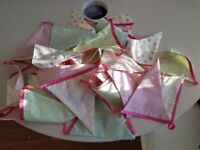 Next girl's curtains and 4 sets matching bunting
