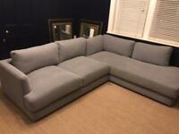 Brand New West Elm Corner sofa in grey