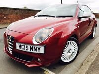 Alfa Romeo MiTo 2015 0.9 TwinAir 3dr Manual Petrol not volkswagen vw polo, golf, honda civic, jazz