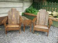 Garden chairs and small table