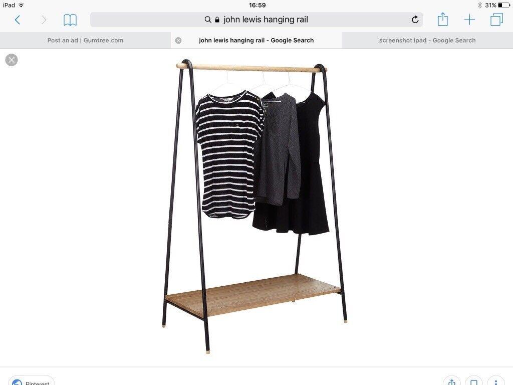 John Lewis Hanging Clothing Rail