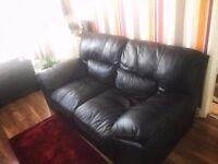 Leather Sofa + 2 Armchairs