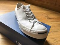 White Converse - Jack Purcell Limited Edition - Size 10.