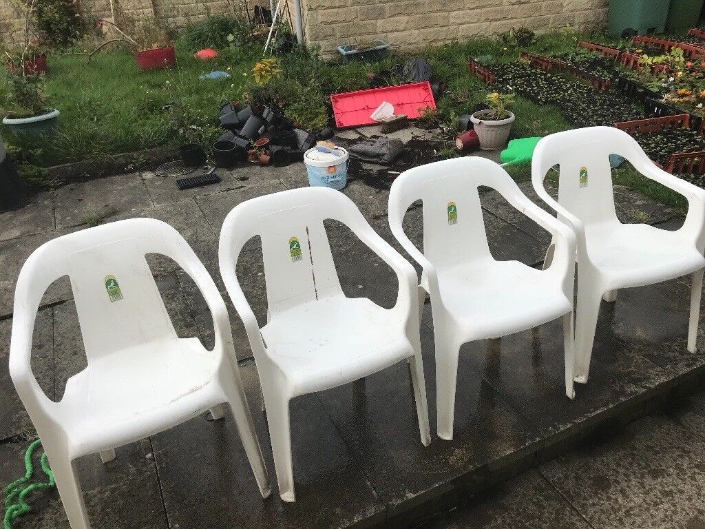 4 patio chairs keters brand huddersfield