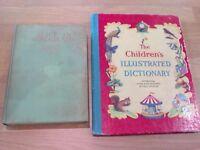 Vintage Alice in Wonderland plus The Children's Illustrated Dictionary