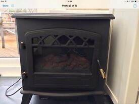 Electric stove style fire, heater