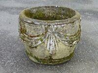 Elegant Vintage Large Swags & Tails Detail Garden Planter Garden Pot