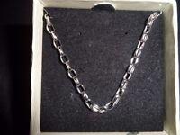 9 Carat White Gold Belcher Chain
