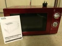 Asda George manual microwave (red) - barely used + excellent reviews