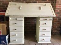 Hand-made wooden bureau desk