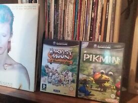 Gamecube games. Pikimin and Harvest Moon.