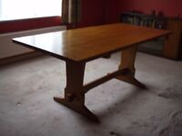 Beechwood dining table and chairs
