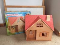 Sylvanian Families Copper Beech Cottage With Box As shown