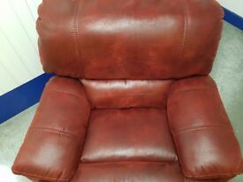 Large recliner rocking chair Veryortable. Splits into 2 for moving very good condition few scuffs