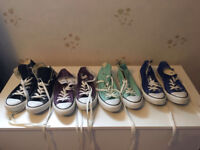 Converse All Star High Tops - 4 pairs, great colours! Size 5
