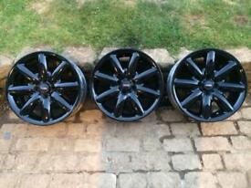 BMW Mini Black Alloys x 3 - 17 inch