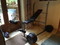 Bench press & weights - good condition