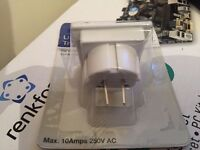 European & US Travel Adaptors 10A 240V AC
