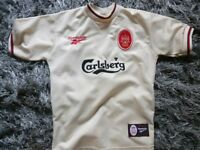 LIVERPOOL AWAY SHIRT VERY GOOD CONDITION SIZE 30-32 INCHS