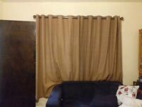 Beautiful brown suede style 6pc curtain set