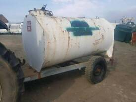 2000 litre bunded diesel bowser trailer with filling hose and nozzle tractor digger