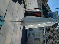 Parasol cream aluminum