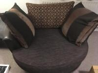 Love seat sofa round two seater twin armchair snuggler