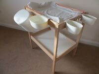 IKEA SNIGLAR changing table with 4 storage baskets, safety mat and cover. £15