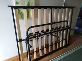 Black Hospital Style Metal Double Bed Frame