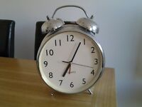 Silver Alarm Clock