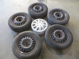 Michelin Tyres/ Steel Wheels/Trims 195/65R15