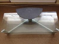Glass & metal TV table