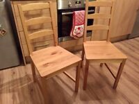 Two Ikea Dining Chairs - £15 for both