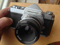 Nikon Nikkormat FT 35mm Camera with 50mm Nikkor f2 lens