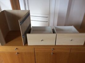 Ikea Kallax Birch drawer insert VGC