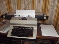 Typewriter with long carriage