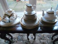 PEGASUS 40 piece Porcelain Dinner/Tea Set