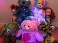 5 build a bears (one limited edition) with clothes and 2 Disney dolls