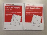Plastic folders - cut flush folders (sleeves) Brand new!