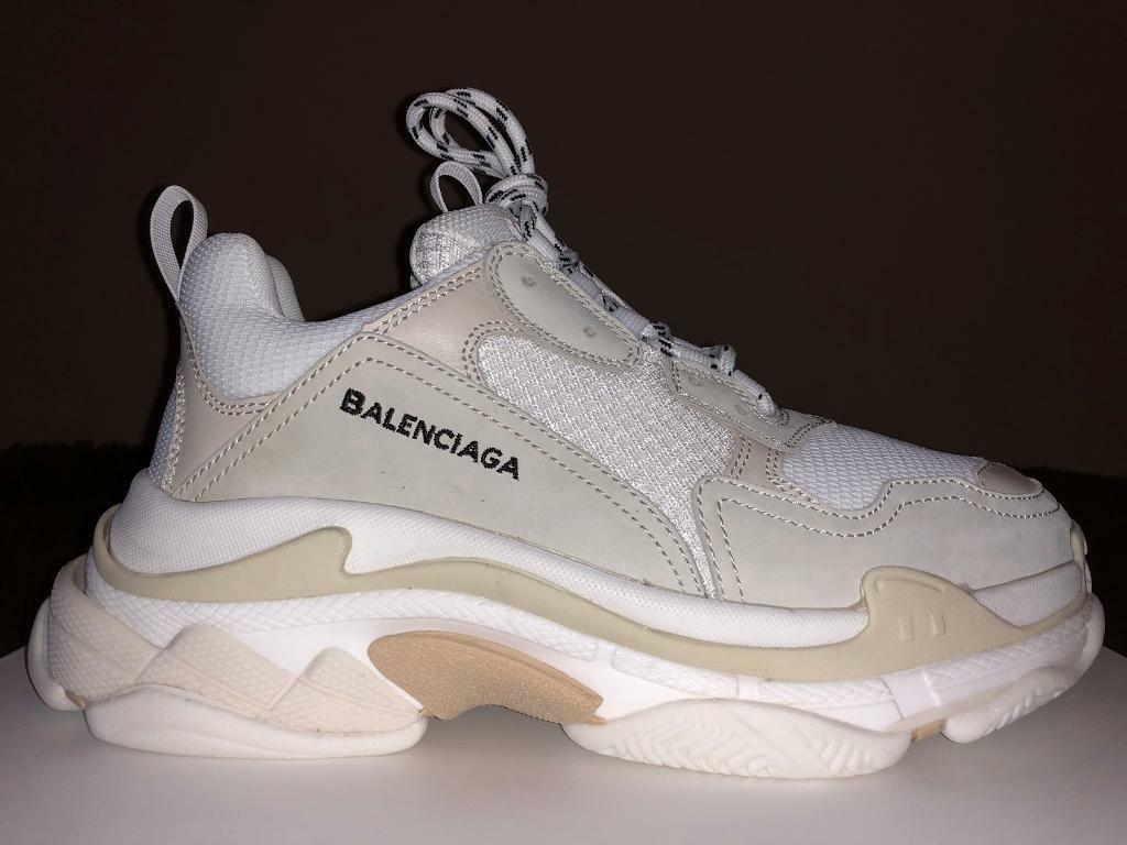 ff0f03b79c28 Balenciaga Triple S Cream White Trainers