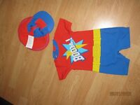Boys sun/swimsuit 18-24 months by Ladybird. 2 piece set with hat.