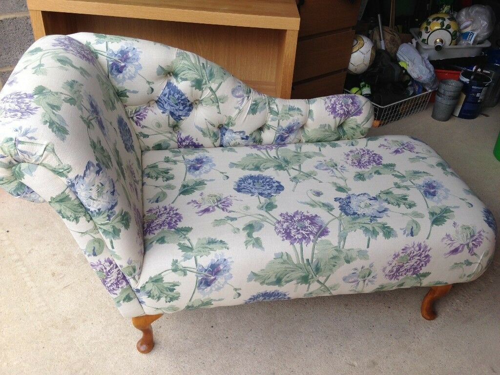 Chaise Longue - covered in Laura Ashley fabric but could be re ...