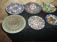WALL PLATES ASSORTED SIZES AND DESIGNS 20 IN ALL WITH HANGERS