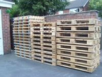 GOOD CLEAN WOODEN PALLETS FOR FURNITURE,TRANSPORT,SEATING,TABLES ETC,DELIVERY POSSIBLE