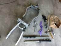 Yamaha FZR 1000 EXUP frame with log book and parts. Fireblade