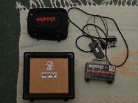 "Orange Micro Dark 20W amp and 8"" speaker"