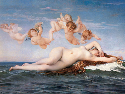 "Decor Art Canvas Print Oil Painting Alexandre Cabanel, The Birth of Venus16""x24"""