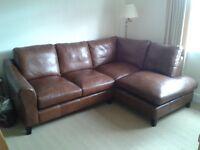 Beautiful Laura Ashley leather sofa.