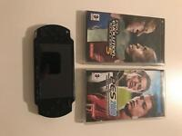 PSP slim with 2 games! Comes with charger